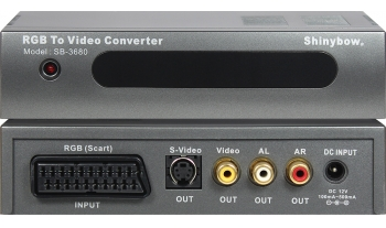 SCART-RGB To S-VIDEO/VIDEO/AUDIO CONVERTER