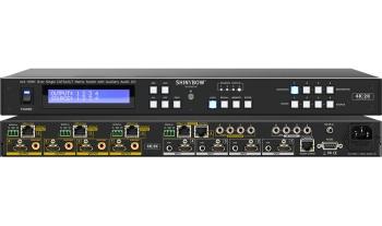 4x4 HDMI HDBaseT Matrix Switch w/ Auxiliary Audio