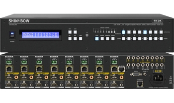 8x8 HDMI HDBaseT Matrix Switch w/ Auxiliary Audio