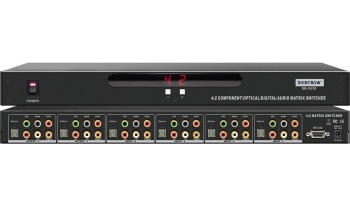 4x2 COMPONENT-DIGITAL-OPTICAL-AUDIO MATRIX SWITCHER