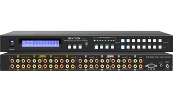 8x8 DIGITAL•VIDEO•AUDIO MATRIX SWITCHER