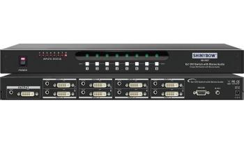8x1 DVI Routing Switcher
