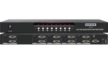8x2 VGA-AUDIO ROUTING SWITCHER