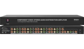 1x8 COMPONENT VIDEO-AUDIO DISTRIBUTION AMPLIFIER