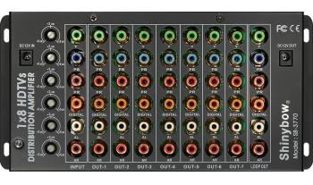 1x8 COMPONENT•DIGITAL•AUDIO DISTRIBUTION AMPLIFIER