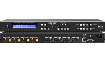 4x4 HDMI Matrix Switch with Auxiliary Audio