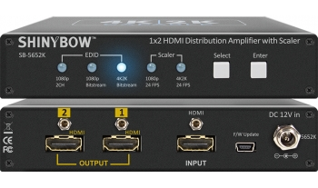 1x2 HDMI Distribution Amplifier w/ Scaler