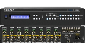 8x8 HDMI HDBaseT Matrix Switch w/ Auxiliary Audio (PoH)