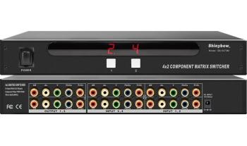 4x2 COMPONENT AUDIO MATRIX SWITCHER