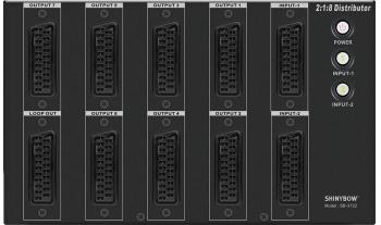 2x1x8 SCART SWITCHER-DISTRIBUTION AMPLIFIER