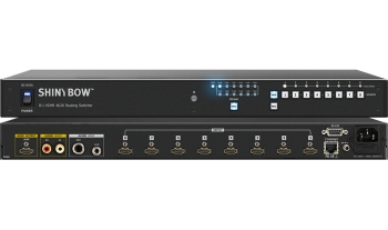 8:1 HDMI 4K2K Routing Switcher with Mic / Aux