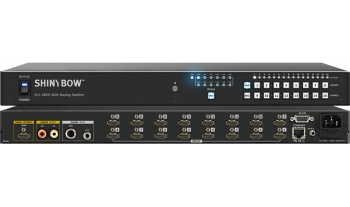 16:1 HDMI 4K2K Routing Switcher with Mic / Aux