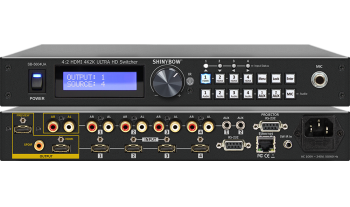 4:2 HDMI 4K2K Routing Switcher with Mic / Aux