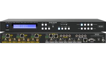 4x4 HDMI & HDBaseT Matrix Switch with Auxiliary Audio I/O