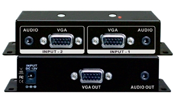 2x1 VGA-STEREO AUDIO ROUTING SWITCHER