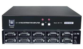 2x1:8  VGA SWITCHER DISTRIBUTION AMPLIFIER