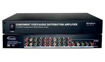 1x4  COMPONENT-AUDIO DISTRIBUTION AMPLIFIER