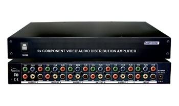 1x5  COMPONENT-DIGITAL-AUDIO(1000MB) DISTRIBUTION AMPLIFIER
