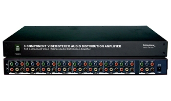1x8 COMPONENT-DIGITAL-AUDIO(1000MB) DISTRIBUTION AMPLIFIER