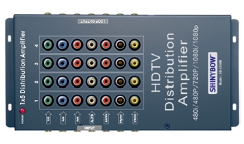 1x5 COMPONENT • DIGITAL • VIDEO • S-VIDEO • AUDIO DISTRIBUTI