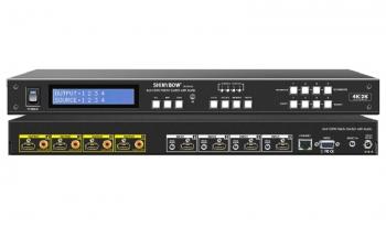 4x4 HDMI Matrix Switch with Audio
