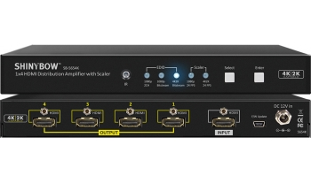 1x4 HDMI 4K2K Distribution Amplifier with Scaler