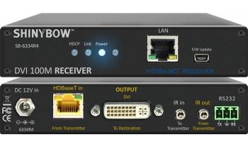 DVI HDBaseT 100M Extender with Ethernet