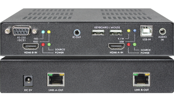 DUAL-HEAD HDMI KVM with Audio CAT.6 Extender